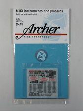 Archer 1/35 M113 APC (Armored Personnel Carrier) Instruments & Placards AR35356