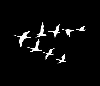 GEESE FLYING Vinyl Decal Car Window Bumper Sticker Goose Wedge V Formation