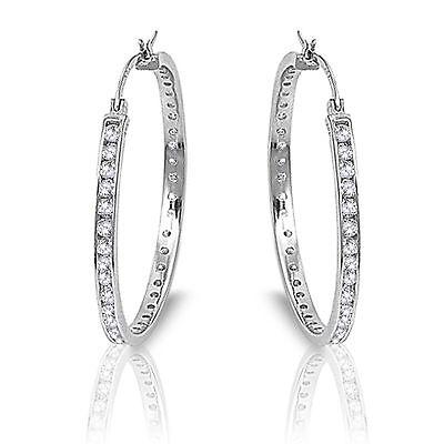 2019 Mode Künstlicher Diamant Original Sterlingsilber Designer Creolen 16mm - 60mm