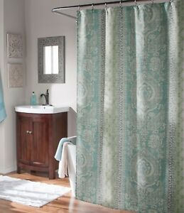 Image Is Loading Studio D Callie Medallion Faux Linen Shower Curtain