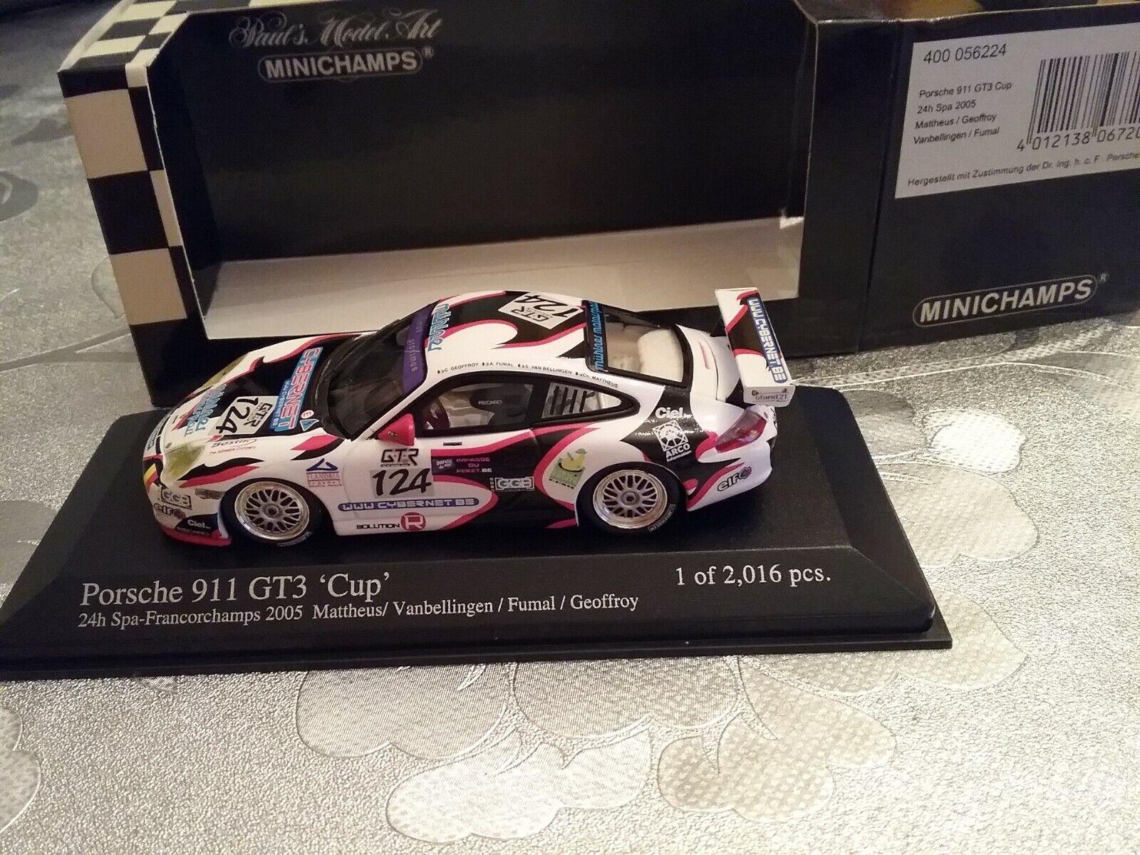 PORSCHE 911 GT3 CUP  24H SPA FRANCORCHAMPS  124 EDITION LIMITEE