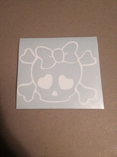 Skull Girl Vinyl Die Cut Decal,window,car,truck,laptop,funny,iPad,love