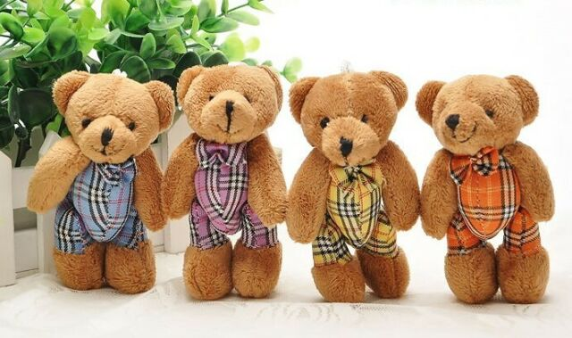 Free shipping 10 X Lovely bear plush decoration Mobile phone chain strap Charms