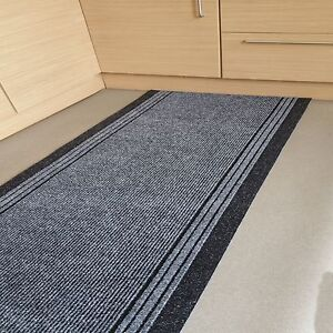 Grey-Heavy-Duty-Non-Slip-Rubber-Backed-Hall-Runner-2ft-2-034-x-5ft-Barrier-Mat
