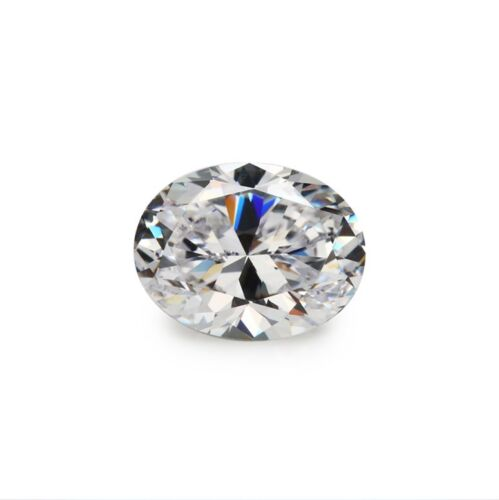 White Sapphire 7x9mm 3.12ct Oval Faceted Cut Shape AAAAA VVS Loose Gemstone
