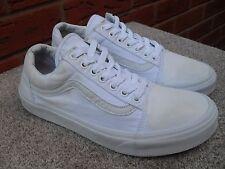 VANS SKOOL TELA BIANCA OLD pompe/Sneaker UK 8 EU 42