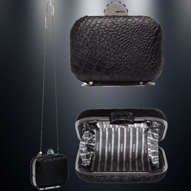 separation shoes 082ef 25f4d MIMCO LUXATHON HARDCASE in BLACK CLUTCH EVENING BAG +Dustbag rrp$199 NOW$129