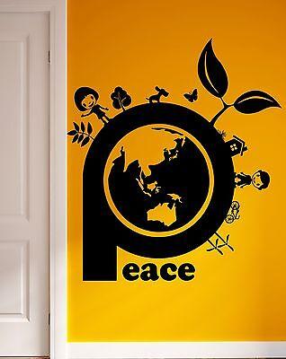 Wall Sticker Vinyl Decal Peace Environment Nature Hippie Decor (ig1839)