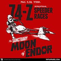 Star Wars Biker Scout Stormtrooper Empire Endor Speeder Bike Mens Shirt M-2x