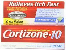 Cortizone-10 Maximum Strength Anti-Itch Creme with Aloe 2 oz Each