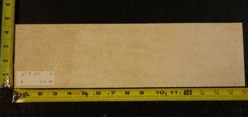 """16/"""" x 4.5/"""" Vegetable Tanned Cowhide 7 to 8 oz Qlty Tooling Leather Piece 1st"""
