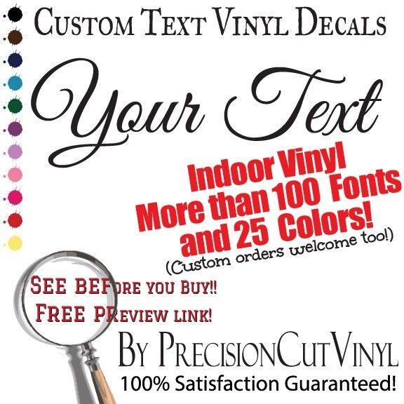 Custom Vinyl Lettering. Wall Decal Text. Vinyl Custom Stickers. Personalized Art