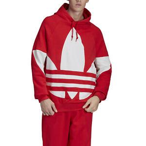 felpa adidas rossa senza cappuccio