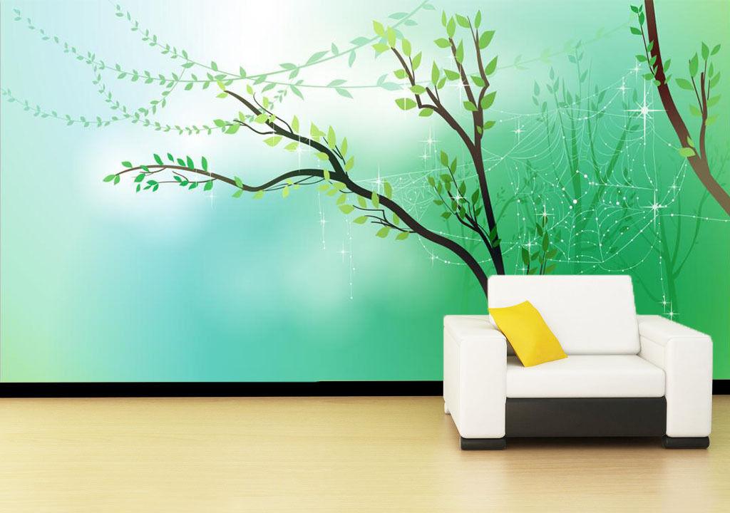 3D Green Trees Cartoon 2633 Wall Paper Wall Print Decal Wall AJ WALLPAPER CA