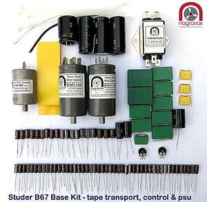 Studer-B67-ESSENTIAL-tape-recorder-capacitor-amp-suppression-service-overhaul-kit