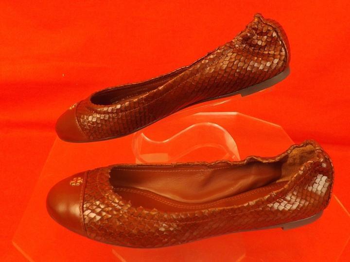 Nuevo En Caja Tory Tory Caja Burch Cereza Marrón Cuero Estampado De Serpiente oro Reva York Ballet Zapatos sin Taco Sin 9.5 91bb02