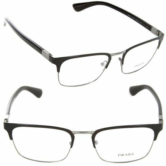 7b103d73ef46 PRADA Eyeglasses Black Silver PR 55tv 1ab1o1 52 Cinema for sale online    eBay
