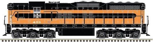 Atlas   40003664 EMD SD7-estándar DC Bessemer & Lake Erie   451 MIB de escala N