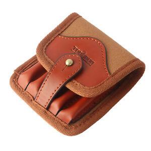 Tourbon-Rifle-Ammo-Carry-Cartridge-Pouch-Bullets-Wallet-Canvas-Leather-308-30-06
