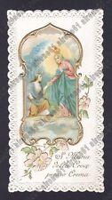 SANTINO 175 CREMA - SANTA MARIA della CROCE - IMMAGINETTA HOLY CARD IMAGE PIEUSE