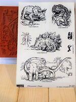 Stampin Up Dinosaur Days Wood Stamps Prehistoric Jurassic