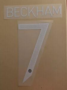 FLOCAGE Beckham #7 Manchester United 2020-2021 Home Nameset. Cup