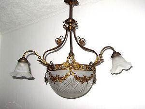 Französischer Kronleuchter Antik ~ Antik französische messing glas kronleuchter lüster um 1880 eh