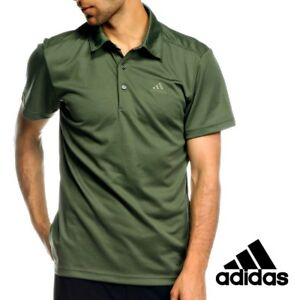 Adidas-Mens-HT-ClimaLite-Polo-Shirt-Top-Tee-Green-Casual-Free-Tracked-Post