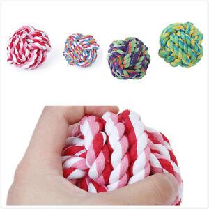 Balle-Boule-Corde-Tresse-a-Macher-Coton-Noeud-Dents-Jouet-Pour-Chien-Chat-Cadeau