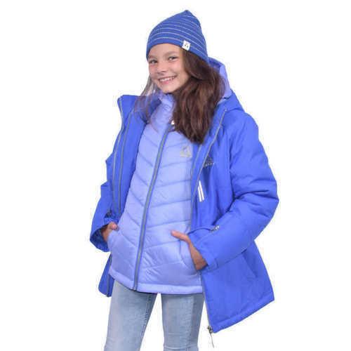 Larkspur//Lilac Gerry Hazel 3-in-1 Systems Girls/' Jacket 7//8 S Size