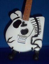 Mini Guitar POISON CC DEVILLE Skull GIFT Memorabilia FREE STAND Display ART