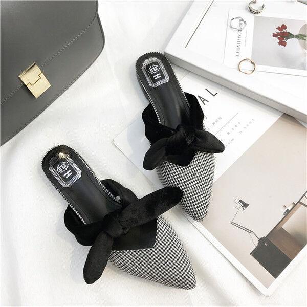 Ciabatte eleganti sabot bianco negro basse eleganti comodi simil pelle pelle pelle 9843  para barato