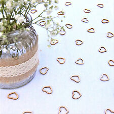 Wedding Table Decorations   Hollow Rustic Small Wooden Hearts   Love Confetti