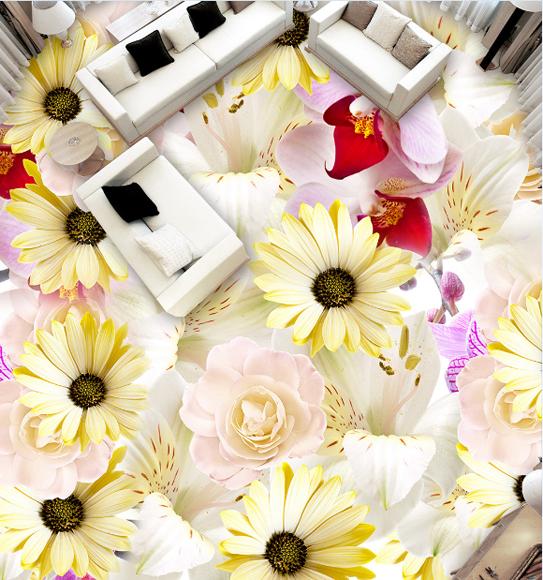 3D Blütenblätter 79 Fototapeten Wandbild Fototapete Tapete Familie DE Lemon