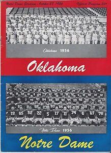1956 Notre Dame Irish v Oklahoma Sooners NCAA vintage ...