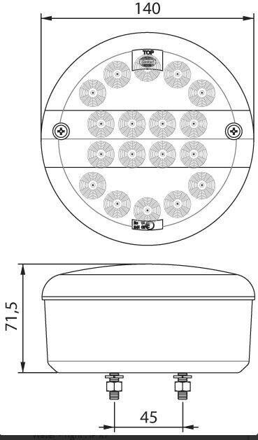 Trailer Baglygte LED Dasteri DSL-8080 3-kammer, lastevne
