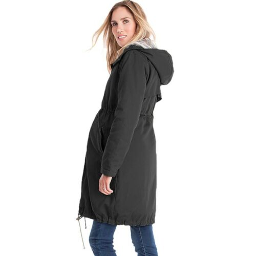 Pregnant Womens Winter Warm Long Jacket Coat Maternity Kangaroo Baby Hoodie Coat