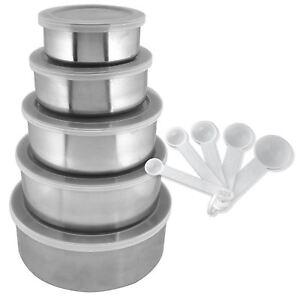15PC-Ciotola-in-acciaio-INOX-da-cucina-Set-5-ciotole-con-coperchi-5-5-Cucchiaio-di-archiviazione