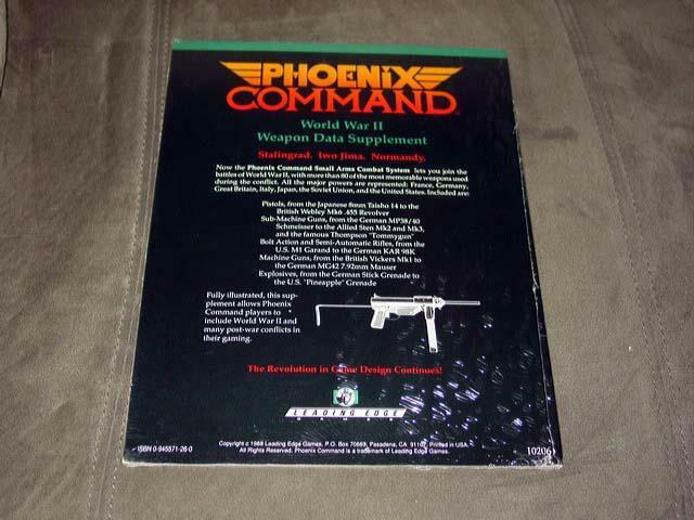 Phoenix Command - WWII Weapons Data Supplement (SEALED) Leading Edge Games