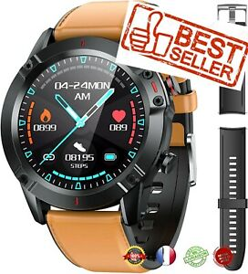 Montre Connectée Homme, Smart Watch Étanche IP68 Android/iOS 2 bracelets