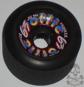 TRACKER-Ollie-Skateboard-Wheels-92a-63mm-Black-039-80s-Old-School-NOS