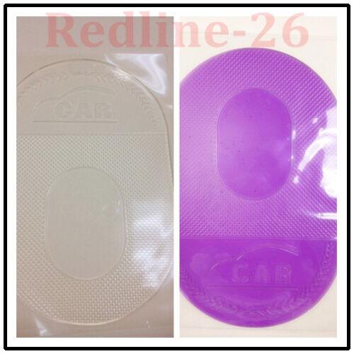 Large Anti-Slip Dashboard Sticky Pad Phone Holder Non-Slip Mat Clear+Purple
