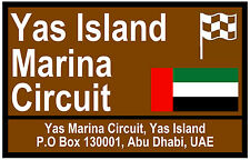 MOTOR SPORT TOURIST SIGNS (ABU DHABI) - SOUVENIR NOVELTY FRIDGE MAGNET - GIFTS