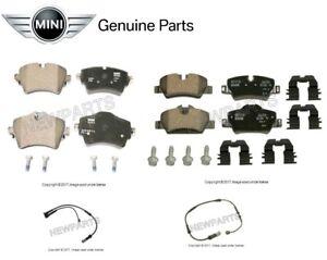 For Mini Cooper F56 Set of Front /& Rear Brake Pads w// Sensors Genuine