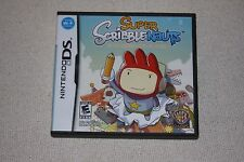 Super Scribblenauts (Nintendo DS, 2010) Complete and Tested!