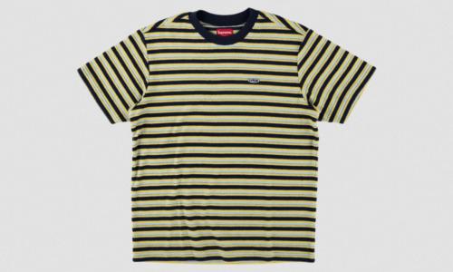 "Supreme New York Multi Stripe Terry Tee ""SS 18"" La"
