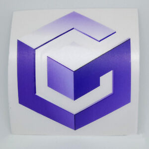 Nintendo-GameCube-Logo-Sticker-Vinyl-Decal-NO-Video-Game-Console-DS-Wii-Switch