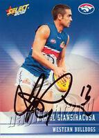 Signed 2012 WESTERN BULLDOGS AFL Card DANIEL GIANSIRACUSA