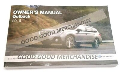 2019 Subaru Outback Hatchback Owners Manual Touring Premium