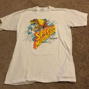 Gildan-Rare-Vintage-90s-Disneyland-Splash-Mountain-Dictionary-Cotton-T-Shirts
